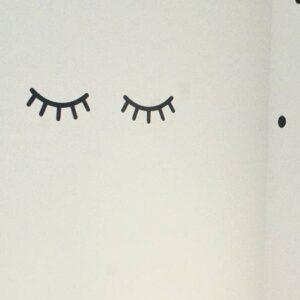 muursticker oogjes