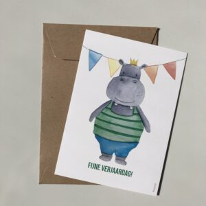 Fijne verjaardag Nijlpaard